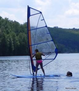 My sister teaches our niece (15) to sailboard